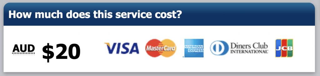 申請澳洲ETA的費用